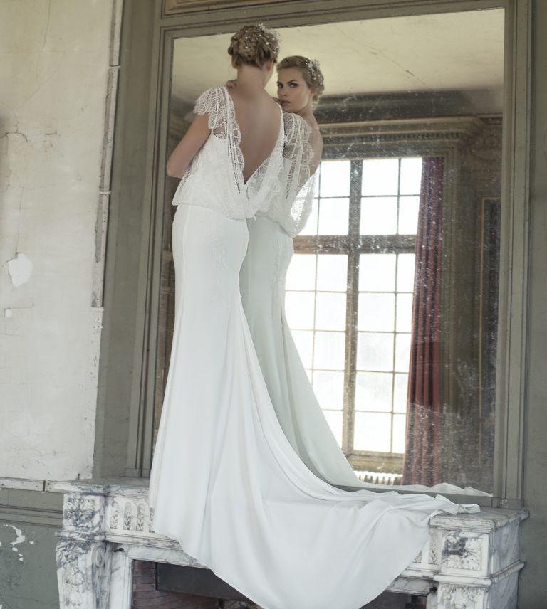 robe bohème vintage fluide en mousseline et dentelle canelle marseille RUE DE ROME