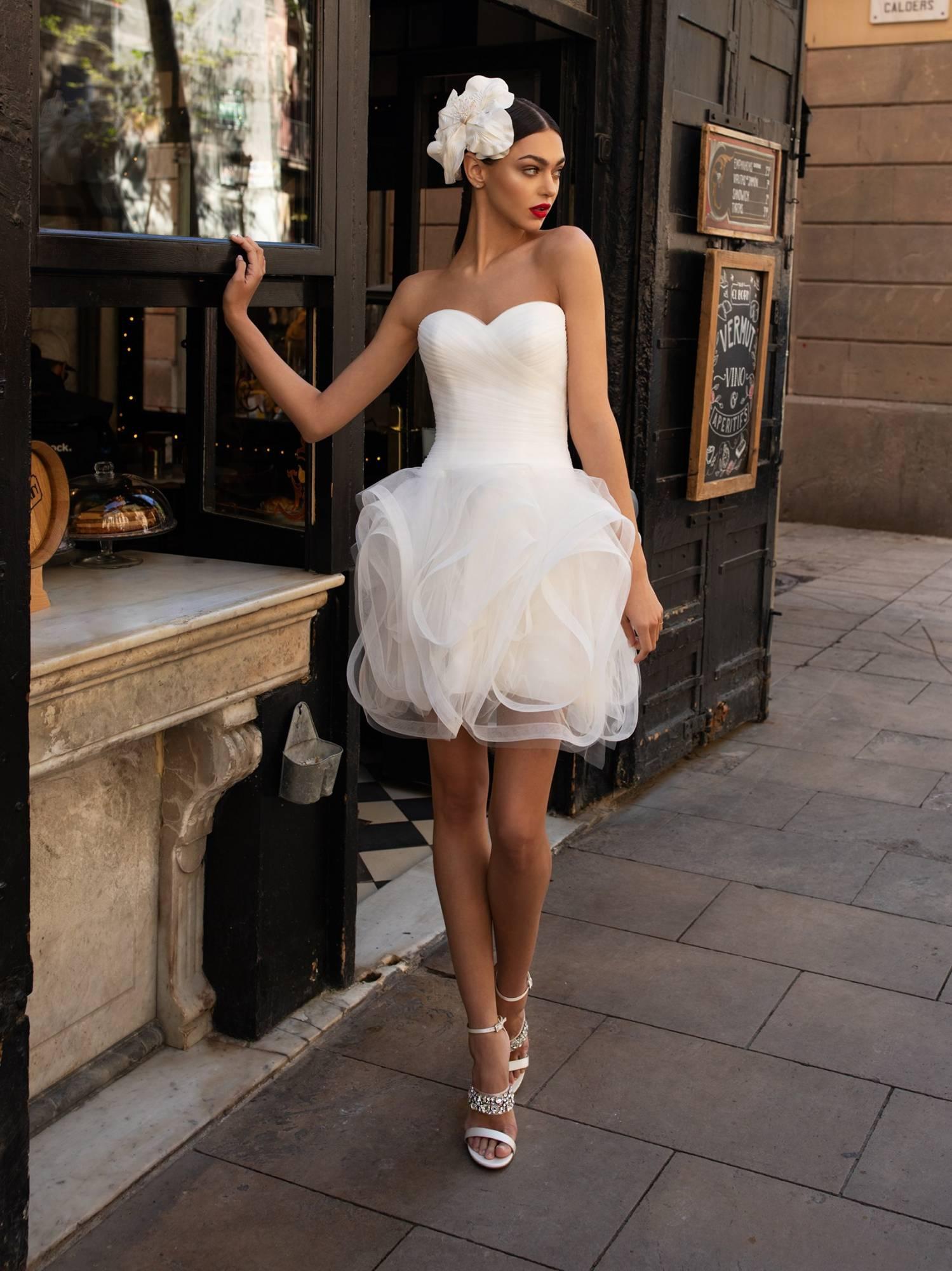 Robe Courte Pour Mariage Civil Lwd 07 Pronovias Marseille Sonia B