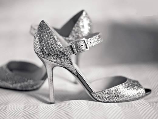 chaussures de mariée vintage en strass