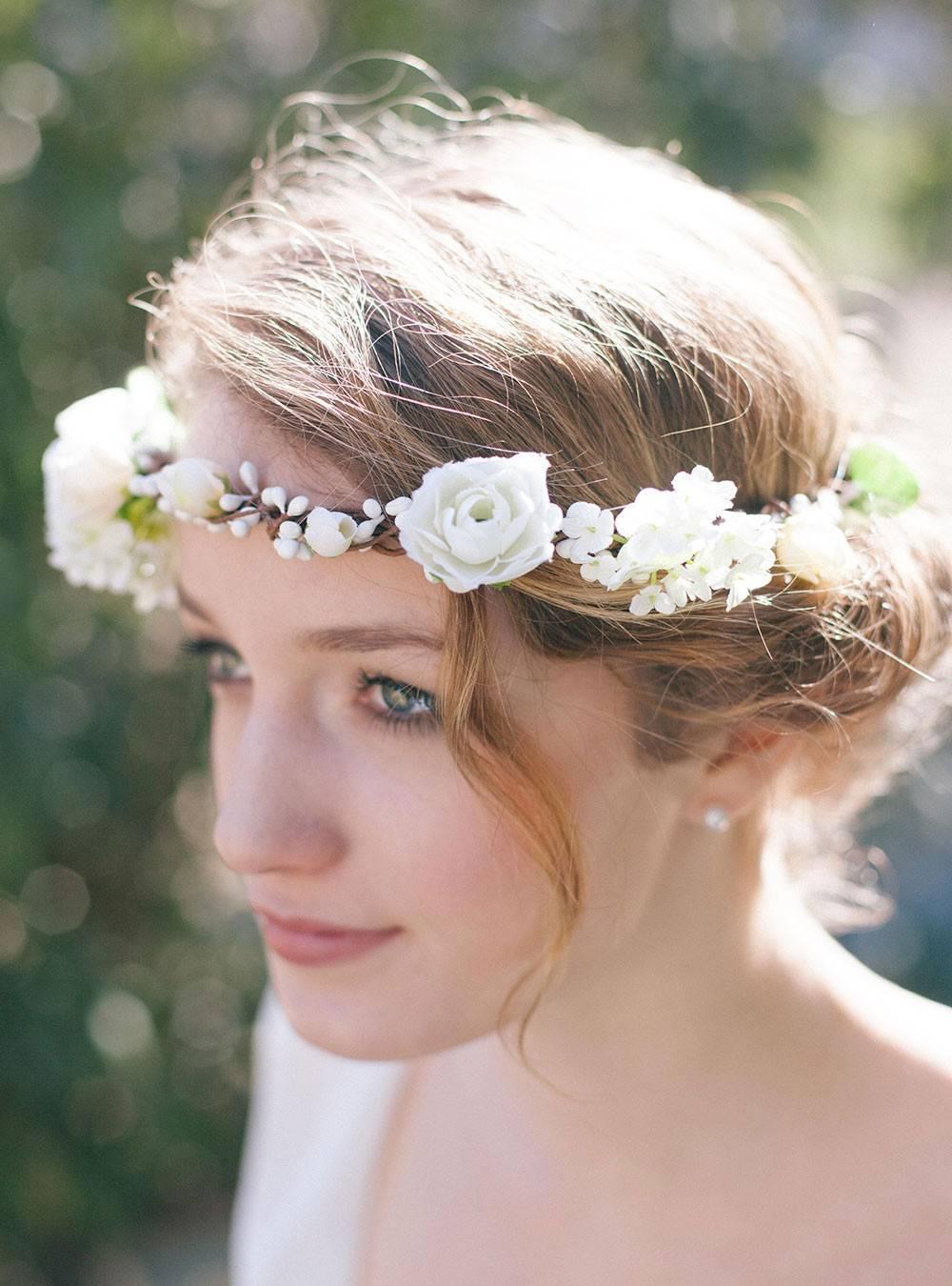 couronnes de fleurs mariage vintage robe de ma vie