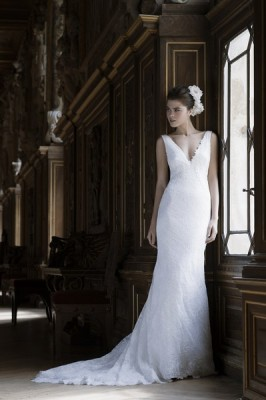 ROBE CYMBELINE BRUME pour mariage a marseille soniab